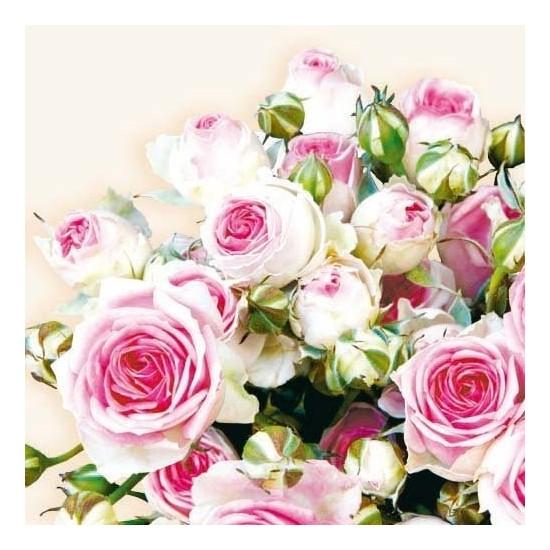 Serviette Bouquet de rose