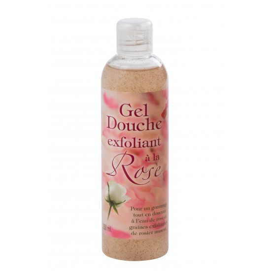 Gel douche exfoliant a la rose 250ml