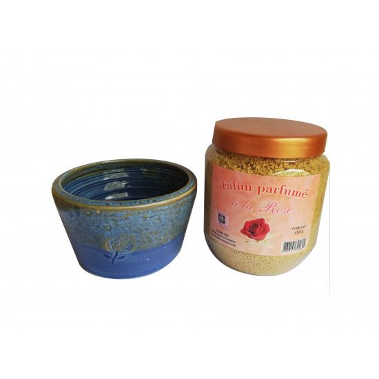 Ensemble Falun a la rose et poterie artisanale