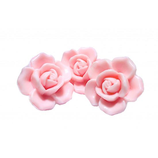 Lot 3 savons forme rose 125g